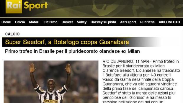 Imprensa italiana repercute título de Seedorf (Foto: Reprodução)
