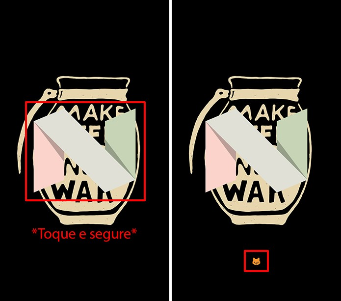 Toque no N que aparece na tela até que um emoji seja revelado (Foto: Reprodução/Elson de Souza)