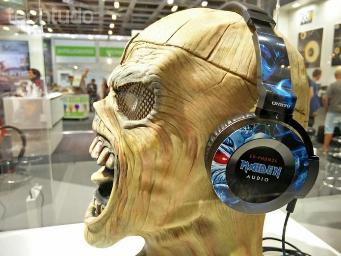 Iron Maiden lança Ed-Ph0n3s, fone do Eddie, mascote da banda (Foto: Fabrício Vitorino/TechTudo)
