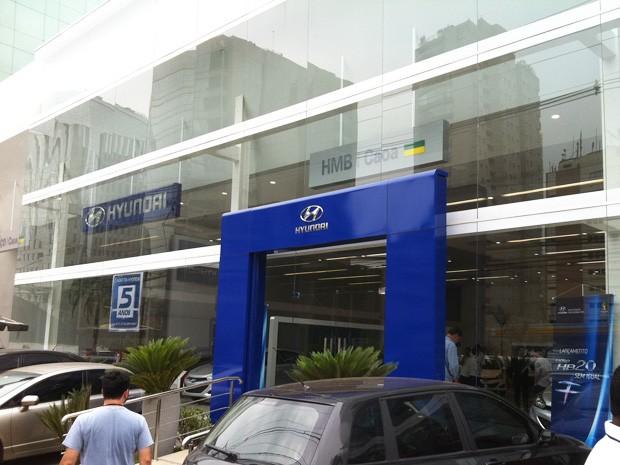 loja hyundai sp (Foto: Luciana de Oliveira/G1)