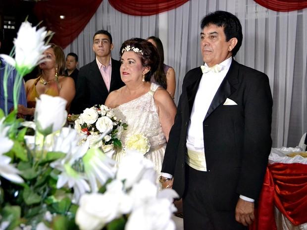 Casamento Adrião e Elzamira (Foto: Emílio Silva/arquivo pessoal)