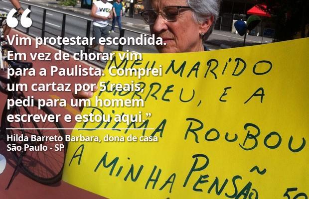 Protesto SP 16/08 Hilda (Foto: G1)