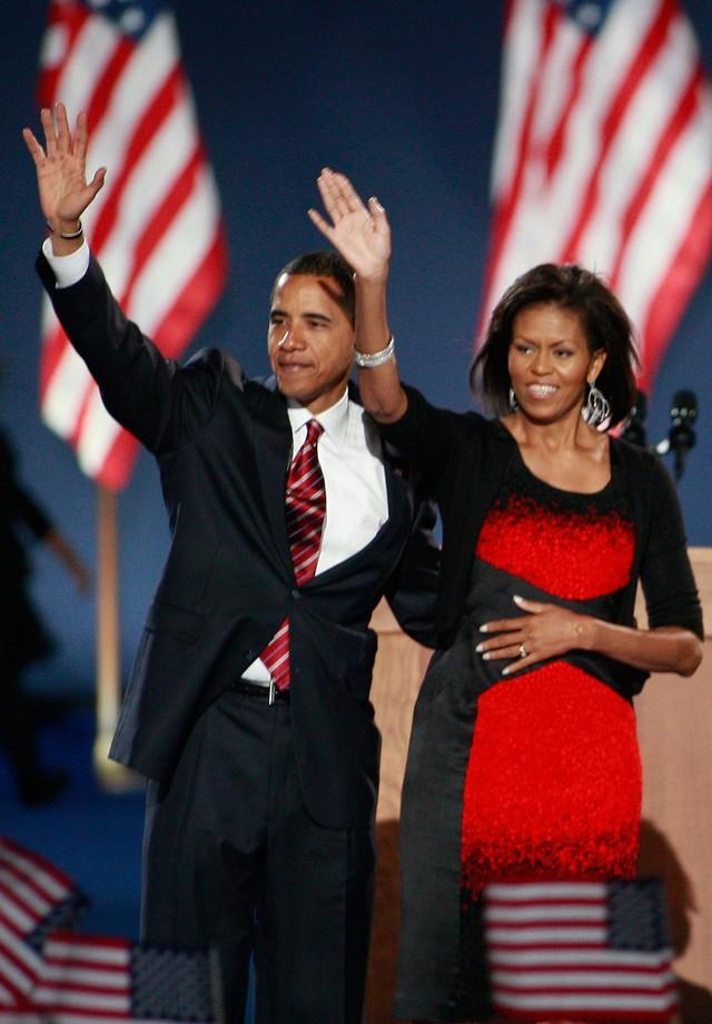 Resultado de imagem para michelle obama  vitória da Eleição 2008