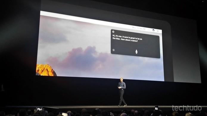 Siri foi introduzida no novo MacOS Sierra durante o WWDC 2016 (Foto: Fabrício Vitorino/TechTudo)