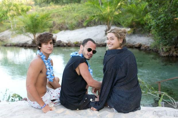 Bruno Montaleone, Fabio Cal e Sasha (Foto: Leo Lemos )