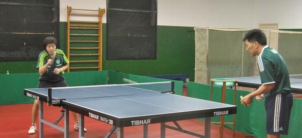 Gui Lin e Hugo Hoyama, do tênis de mesa  (Foto: João Gabriel Rodrigues / Globoesporte.com)