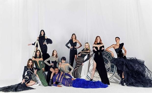 Ten dresses by Olivier Rousteing for his new haute couture line for Balmain, 44 rue François Premier (Foto: BALMAIN)