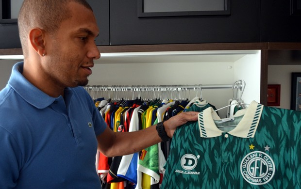 Amoroso, ex-atacante de Guarani, São Paulo, Corinthians, Grêmio, Milan e Seleção Brasileira (Foto: Bárbara Galvão / Globoesporte.com)