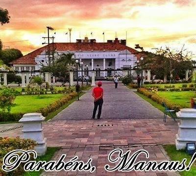 Homenagens no aniversário de Manaus (Foto: Reprodução/Facebook Atlético Rio Negro)