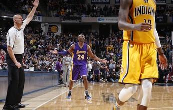 Kobe cresce no último quarto, mas falha e Lakers perdem para os Pacers