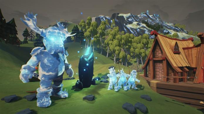 Os inimigos de gelo atacarão os seus vikings (Foto: Divulgação/Daedalic Entertainment)