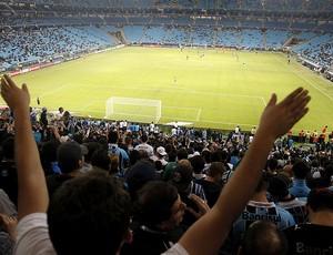 torcida geral Arena do Grêmio jogo Vitória (Foto: Wesley Santos / ArenaPOA)