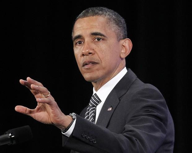 O presidente Barack Obama, durante fala nesta sexta (18), em Washington (Foto: Pablo Martinez Monsivais / AP)