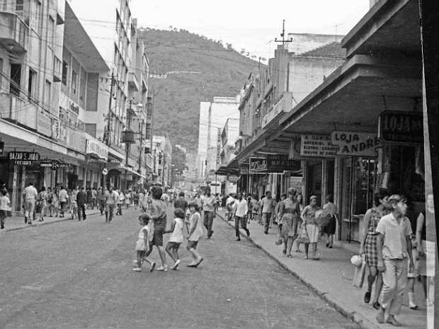 Fábrica de Doces Brasil Rua Marechal Deodoro março de 1969 (Foto: Blog Maria do Resguardo/ Arquivo)