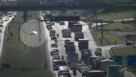 Motorista faz manobra perigosa e cruza rodovia movimentada em Campinas; assista ao vídeo