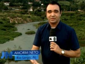 Amorim Neto em reportagem para o JN (Foto: Reprodução/ Rede Globo)