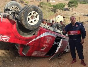 Luciano Wanderley capota carro em treino para o Rally do Sertões (Foto: Arquivo Pessoal)