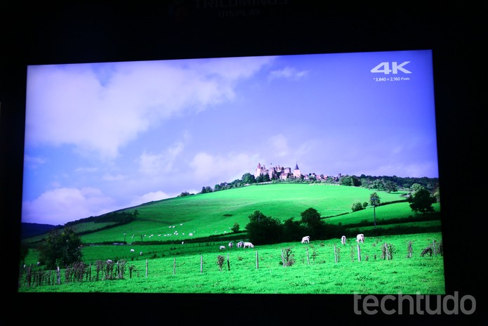 O desempenho da Bravia X930D rodando vídeos em 4K é incrível (Foto: Marlon Câmara/TechTudo)