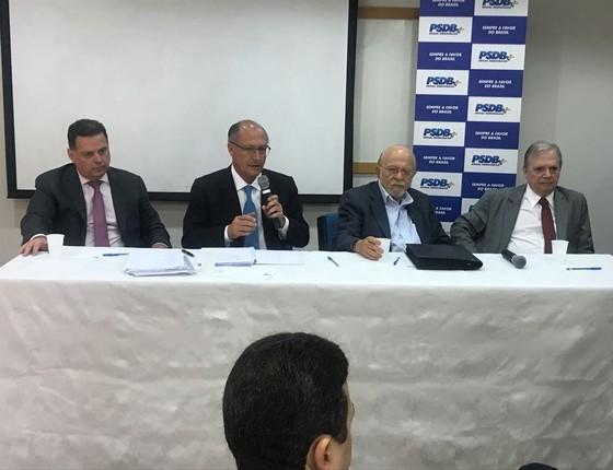 Reunião da Executiva do PSDB (Foto: Reprodução)