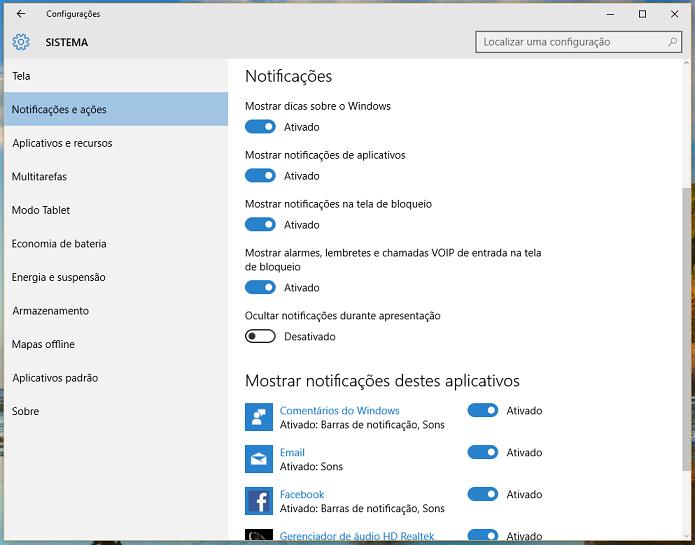 Você também pode definir quais apps deseja que apareçam (Foto: Reprodução/Thiago Barros)