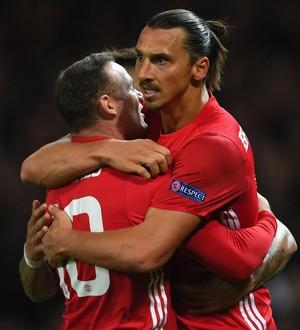 Wayne Rooney e Zlatan Ibrahimovic Manchester United (Foto: Getty Images)