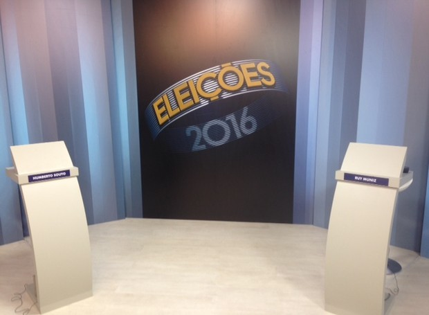 Debate Inter TV Grande Minas (Foto: Taislaine Antunes/Inter TV)