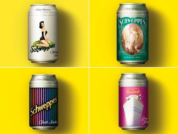 Schweppes coloca latas comemorativas no mercado para celebrar os 230 anos da marca (Foto: Divulgação)