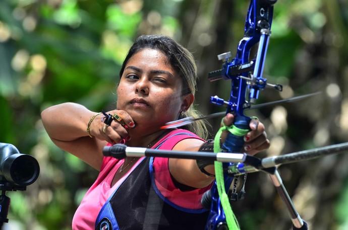Arqueira do Amazonas, Larissa Feitosa (Foto: Mauro Neto/Sejel)