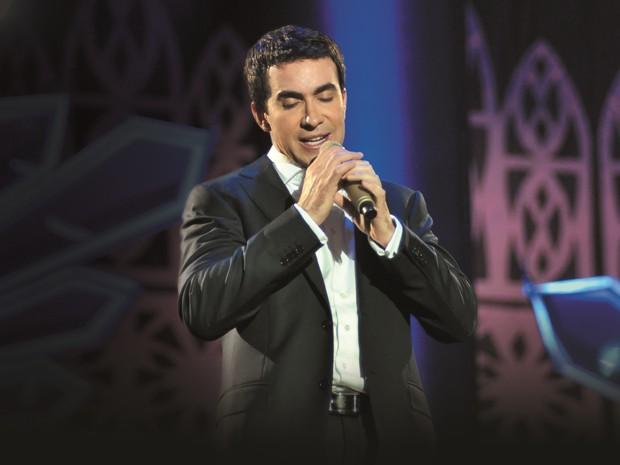 Padre Fábio de Melo durante show de seu novo DVD, 'Queremos Deus' (Foto: Divulgação)