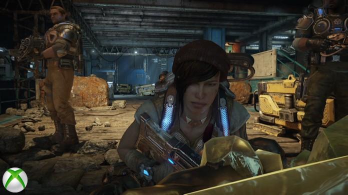 Ao observar Kait em ambas as versões de Gears of War 4 não parece haver grandes diferenças nas versões (Foto: Reprodução/Hardcore Gamer)