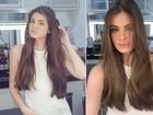 Camila Queiroz mostra antes e depois de 'mudança de visual' na web