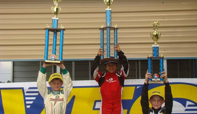 Andrew Marciel, piloto de kart filho de paraibano (Foto: Arquivo Pessoal / Andrew Marciel)