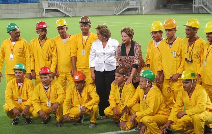Dilma Roussef inauguração arena das dunas (Foto: Márcio Iannacca)