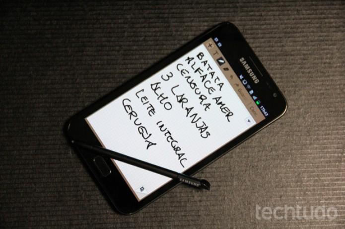 Samsung Galaxy Note (Foto: Allan Melo/TechTudo)
