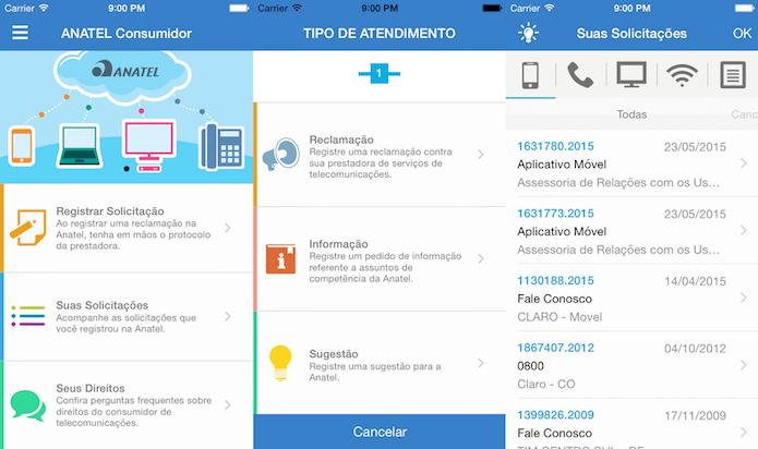 Cadastre e acompanhe suas solicitações com o Anatel Consumidor (Foto: Divulgação/AppStore)