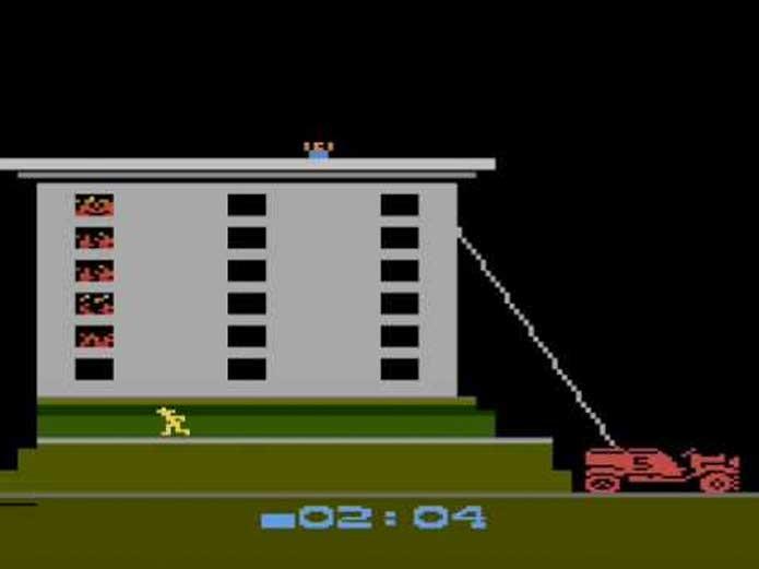 Fire Fighter, sem objetivo e sem graça (Foto: Reprodução/Atari Archives)