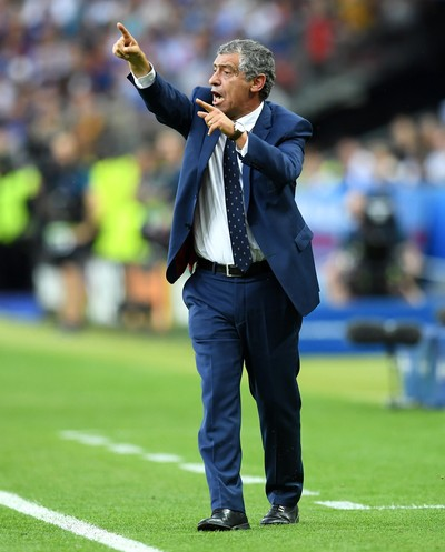 Fernando Santos França x Portugal final euro (Foto: Getty Images)