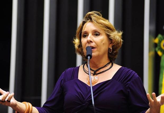 A deputada Érika Kokay (PT-DF) (Foto: Câmara dos Deputados)