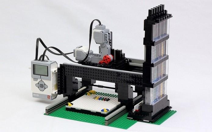 Impressora de Lego criada por Jason Allemann (Foto: Divulgação/JK Brickworks)