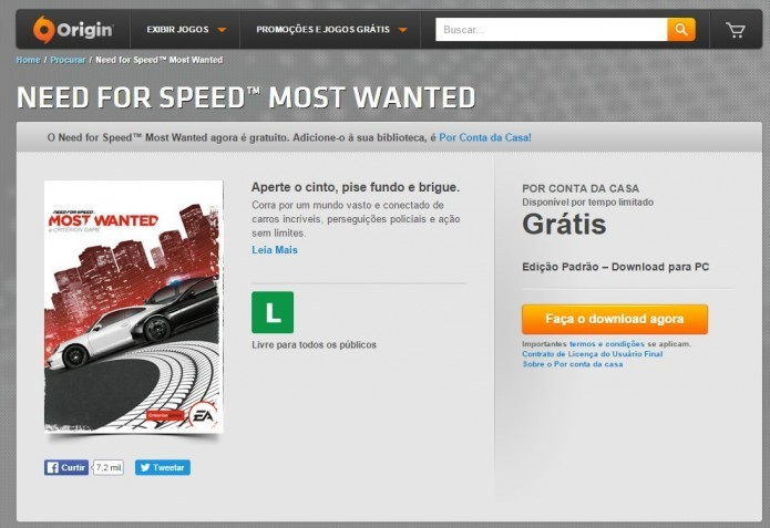 Need for speed most wanted download completo pc windows 7