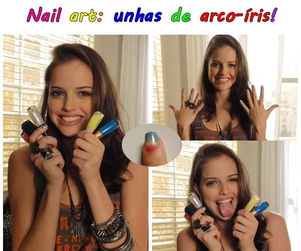 Dicas da Ju unhas de arco-íris (Foto: TV Globo/Malhação)