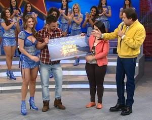Bolada na bolinha gravado (Foto: Domingão do Faustão / TV Globo)