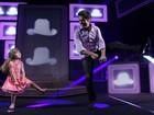 Daniel dança com filha em show em Florianópolis