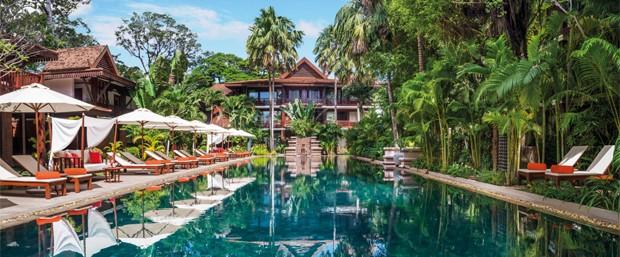Belmond La Résidence d\'Angkor, em Siem Reap, no Camboja (Foto: Belmond La Résidence d\'Angkor/Divulgação)