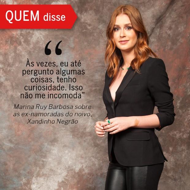 QUEM Disse: Marina Ruy Barbosa (Foto: Reprodução/ Revista QUEM)