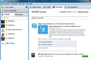Novo Skype com Facebook (Foto: Reprodução)