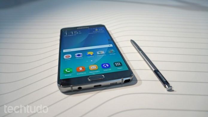 Galaxy Note 5 tem caneta S-Pen auto-ejetável