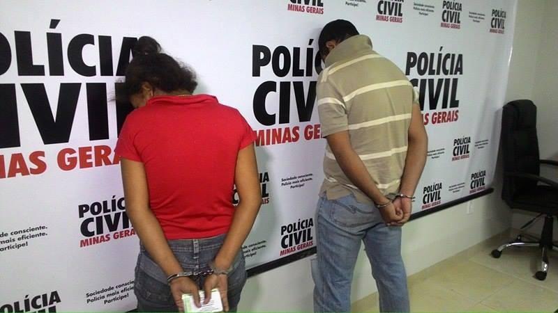 Casal suspeito de matar filho em Ituiutaba (Foto: Theo Vieira/G1)