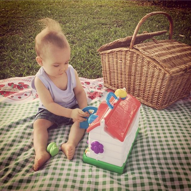 O pequeno Alê Jr. (Foto: Reprodução/Instagram)