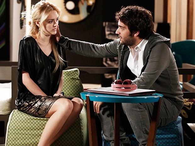 Davi dá um fim ao relacionamento com Megan (Foto: Inácio Moraes / Gshow)